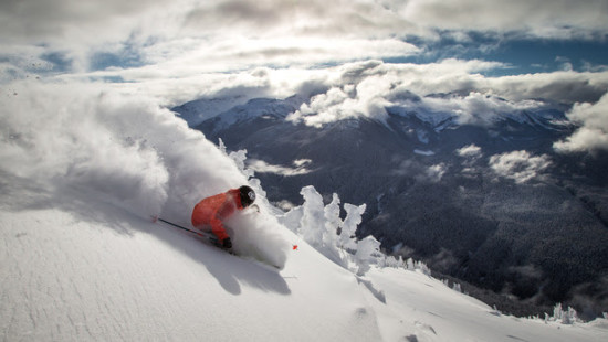 Ian Morrison skiing on Whistler Mountain